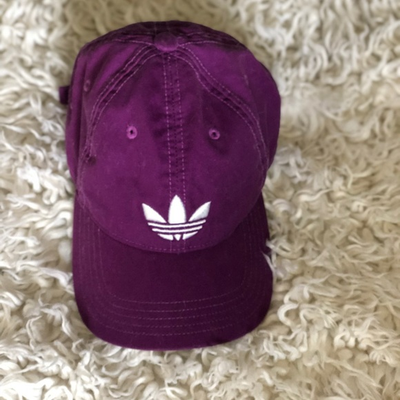 65dbff5322eaa adidas Accessories - Purple Adidas Dad Hat